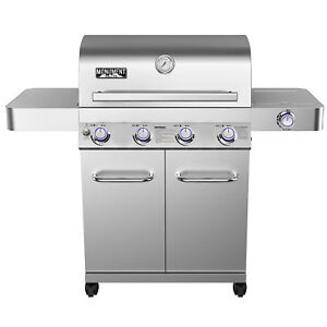 Monument-Grills-17842-Stainless-Steel-4-Burner-Propane-Gas-Grill-with-Rotisserie