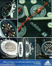 PUBLICITE ADVERTISING 116  1996  Adidas  montres  Le Temps Urban