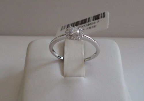 CLUSTER WEDDING RING W LAB DIAMOND ACCENTS 925 STERLING SILVER //SZ 5,6,7,8,9