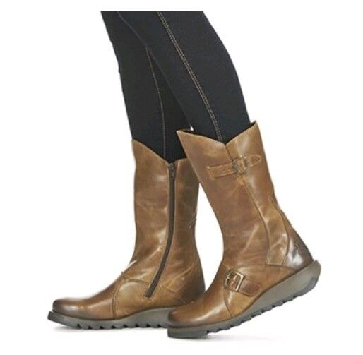 FLY LONDON MES 2 RUG CAMEL BROWN BOOTS SIZE EU 40