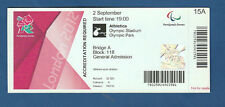 Orig.Ticket   Paralympics LONDON 2012 - LEICHTATHLETIK 02.09. / 20 Finals !! TOP