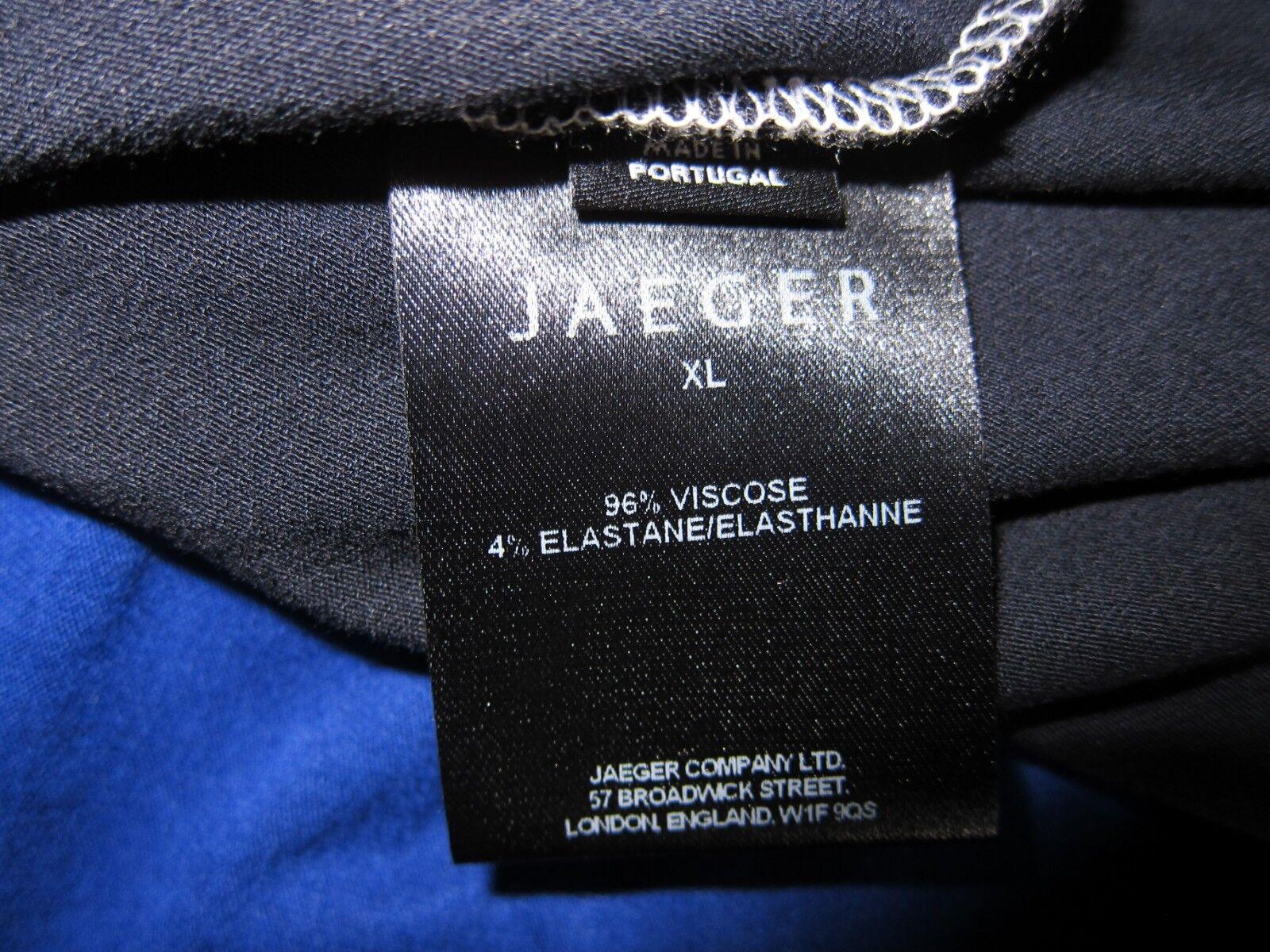 Top Top Top da donna JAEGER manica 3 4 Taglia XL Multi colore viscosa RRP d395e1