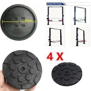 4X-Negro-Redondo-Heavy-Duty-Pads-brazo-para-accesorios-de-elevacion-de-Coche-Universal-Nuevo