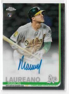 2019-Topps-Chrome-Baseball-Ramon-Laureano-Rookie-Autograph-Oakland-Athletics