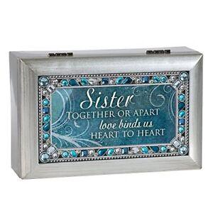 Cottage Garden Granddaughter Sunshine Pink Jewel Beaded Petite Music Box Plays You Light Up My Life