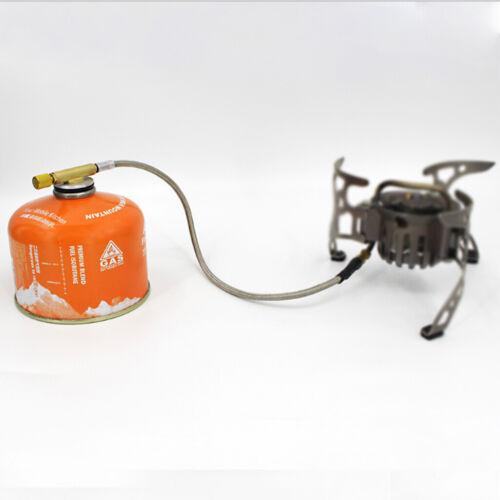Gas Tank Adapter Schlauchanschluss Regler f Outdoor Camping Picknick BBQ