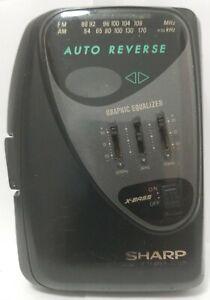 SHARP JC-526 (BK) AM FM Radio Stereo Cassette Player Working Condition - Rare