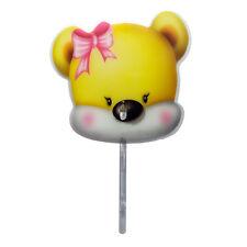 Cute Cartoon Kids Portable Plastic Handheld Hand Fan with Pipe Yellow Bear 1pc