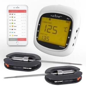 NutriChef-PWIRBBQ80-Smart-Bluetooth-BBQ-Grill-Thermometer-w-Digital-Display