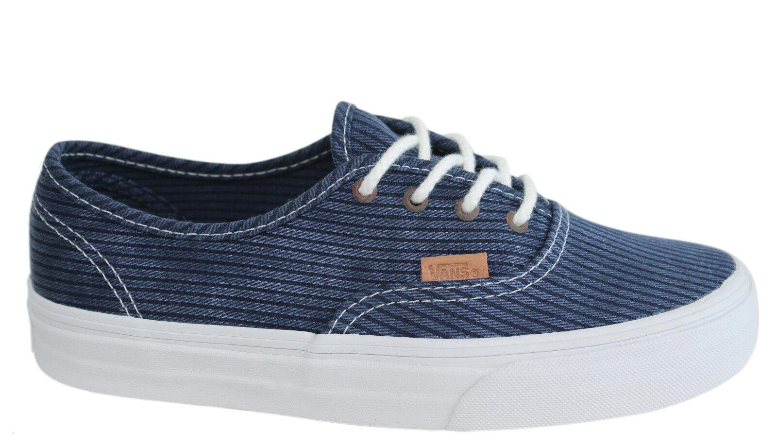 Vans Authentic Washed Herringbone Lace Up Bleu Unisex Plimsolls ZUIFQS Vans C