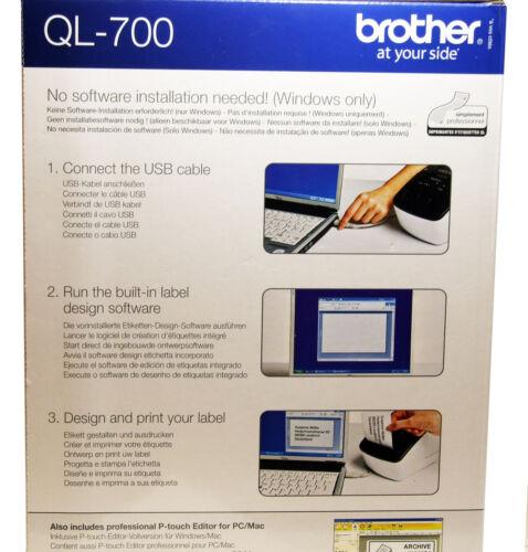 Brother Thermal Label Printer QL-700 QL700 Print Address Labels Brand New