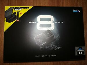 BRANDNEU-GoPro-Hero-8-Black-Action-Kamera-Bundle-2-Batterien-Handler-SD-Card