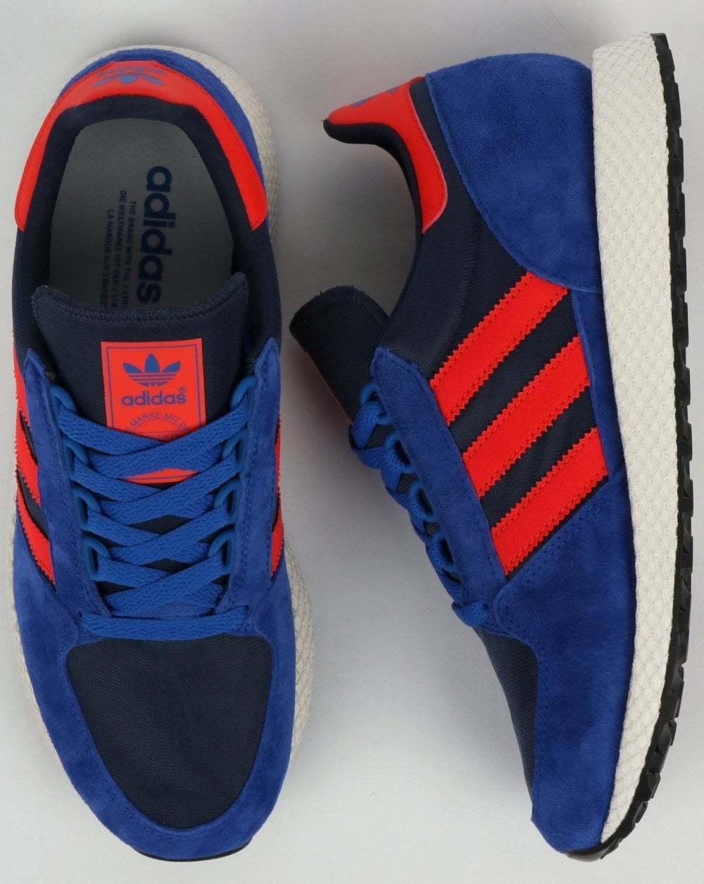 Adidas Originals Forest Grove - Navy, Power Blau & rot - BNIBWT