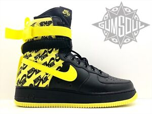 1400284ee902 NIKE SF AF1 AIR FORCE 1 SPECIAL FIELD BLACK DYNAMIC YELLOW WU AR1955 ...
