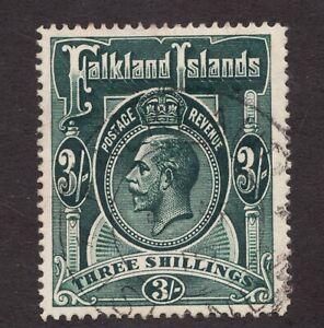 Sc36-SG66-Falkland-Islands-3-Sh-KGV-1912-Used-superfleas-cv-95
