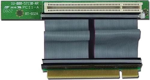 PLinkUSA PCI 32-bit NEW R1PCI1-1R Flex-Ribbon Riser Card w// 1U//2U IPC