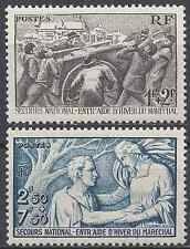 FRANCE SECOURS NATIONAL N°497/498 NEUF ** LUXE GOMME D'ORIGINE MNH