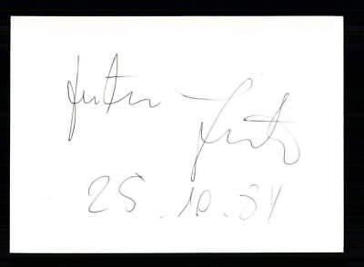 Vorsichtig Justus Frantz Original Signiert # Bc 127092 GläNzende OberfläChe Autogramme & Autographen