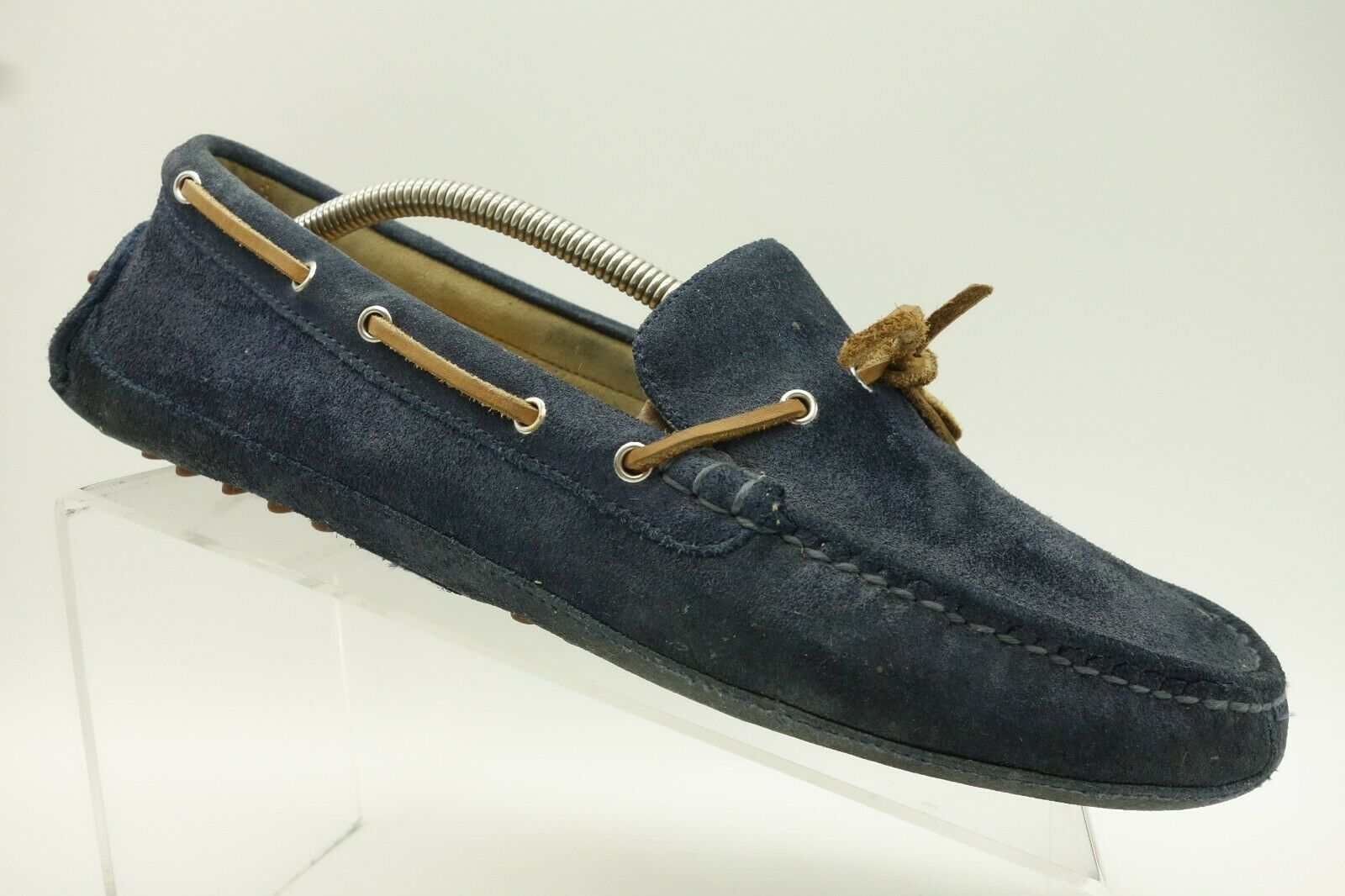 Cole Haan bluee Leather Moc Toe Bow Tie Driving Loafer shoes Mens 11 M