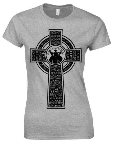 Celtic Cross Macmanus Speech Inspired Veritas Aequitas ladies Tshirt T Top AG52