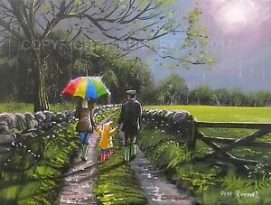 PETE-RUMNEY-FINE-ART-BUY-ORIGINAL-PAINTING-CANVAS-WALL-PICTURE-COUNTRY-LANES