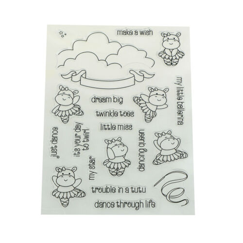 Dancing cow Clear Silicone Stamp//Seal for DIY Scrapbooking//photo Album Deco JX