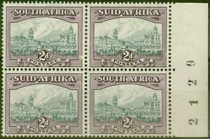 South-Africa-1941-2d-Grey-amp-Dull-Purple-SG58a-Fine-MNH-amp-VLMM-Block-of-4