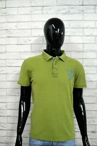Polo-AVIREX-Uomo-Taglia-M-Maglietta-Cotone-Shirt-T-Shirt-Maglia-Verde-Jersey