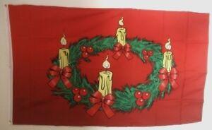 Fahne Flaggen WEIHNACHTEN ADVENTSKRANZ / 150x90cm TDShop24