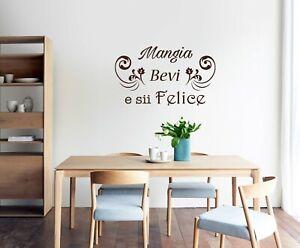 Adesivi Murali Frase Cucina Decorazioni Da Parete Wall Stickers Arredo Ws1564 Ebay