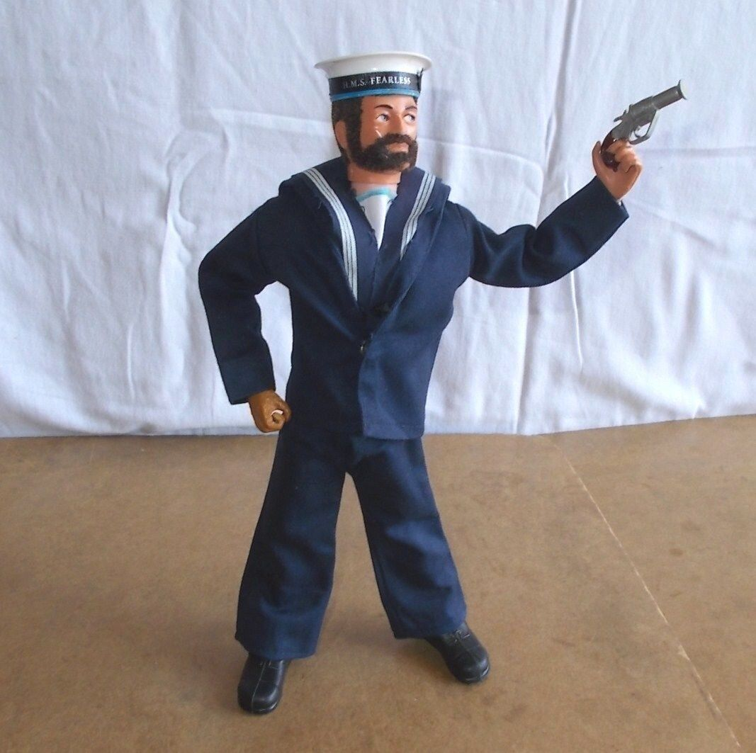 Vintage PALITOY ACTION MAN - BRITISH SAILOR third issue HMS fearless - 70/80's
