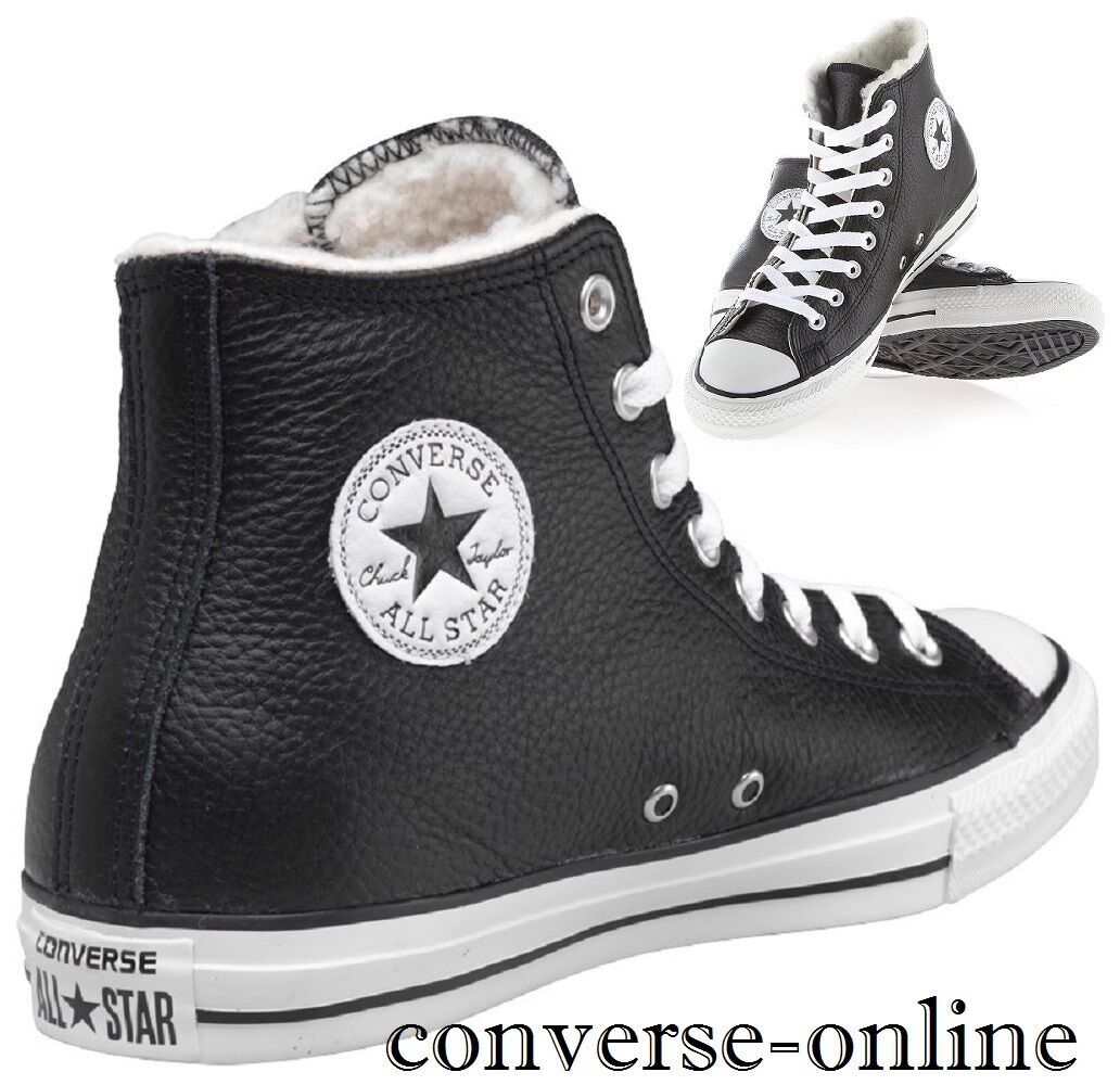hommesfemmesCONVERSE All Star SHEARLING LEATHER HInoirBottes TrainerSIZE 7.5