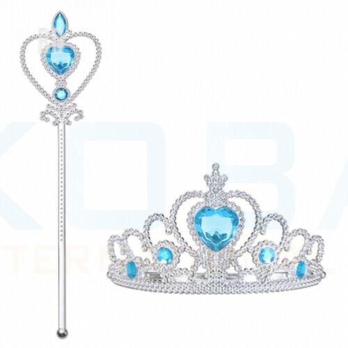 Vicloon Ice Princess Elsa Accessories Set  Tiara Crown and Magic Wand Girls Gift