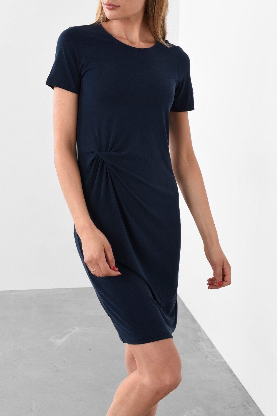 Selected Femme Vivi S Sleeve Drape Dress Size XL BNWT RRP .95 Dark Sapphire