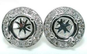 50-Ct-Round-HALO-DIAMOND-Stud-Mounting-Earrings-14KW