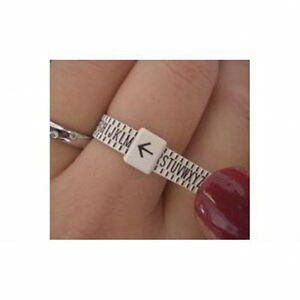 NEW UK RING SIZER GAUGE, MEASURES FINGER SIZE A TO Z  RING SIZE