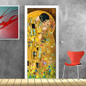 Pt0124 wall stickers adesivi murali porte decorate porta bacio 100x210cm ebay - Porte decorate adesivi ...