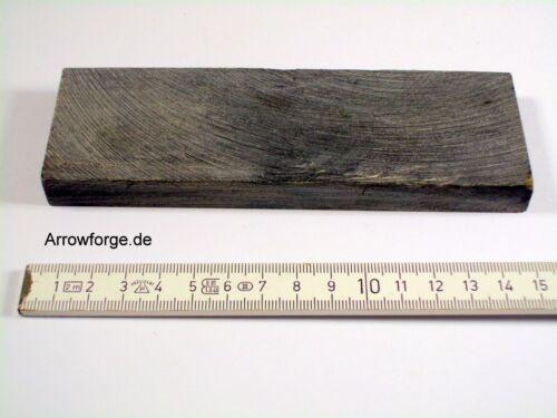 Hornblock Schwarz 150x50x12/16mm Wasserbüffelhorn Hornstück Horn