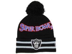 cf3b47886407a7 Oakland Raiders New Era Super Bowl XI NFL Football Team Knit Pom ...