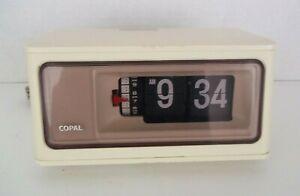 Vintage-Copal-RP-160-Table-Flip-Digital-Alarm-Clock-Ivory-1970-039-s-Japan-Working
