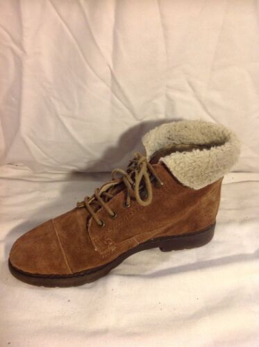 Ankle Boots 38 Brown Top Size Suede Shop 7AxqR
