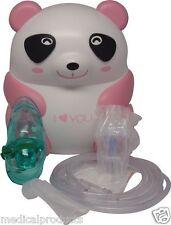 Pediatric Kids Nebulizer Machine Compressor Pink Panda for Allergy Asthma COPD