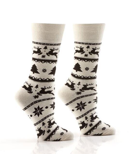 Women's Nordic Crew Socks Size 9-11 Cream