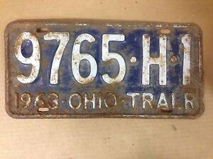 1963-OHIO-Trailer-License-Plate-9765-H-1