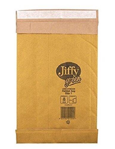 taille 0 Jiffy Papier Enveloppes Matelassées 132 x 235 mm protection enveloppes 10 Per Pack