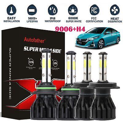 2pcs H4 LED Bulb HID White 360°Hi//Low Beam Motorcycle Headlight 6000K High VBE