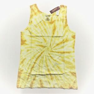 d084d8a889958 Men s Arizona Tank Top Sleeveless Shirt - Yellow Spiral Tie Dye