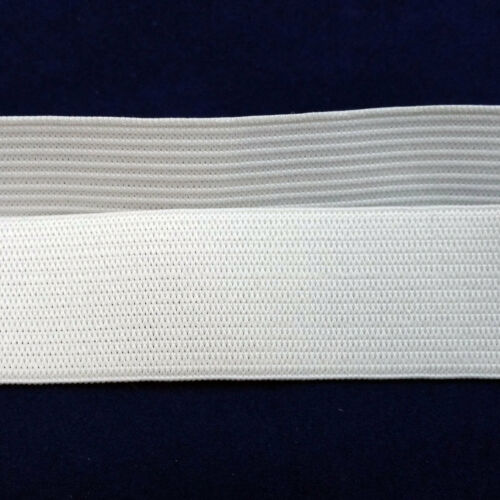 Free shipping 3 yards White New Knitted Soft Elastic 1 inch