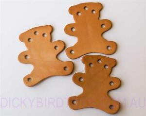 DICKY-BIRD-TOYS-3-LEATHER-TEDDY-BEARS-TOY-BASE-FREE-POSTAGE-ORDERS-50