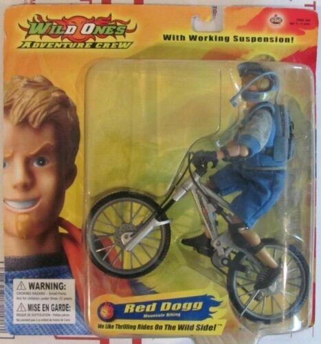 "B-Bel Wild Ones Adventure Crew Mountain Biking Figure Red Dogg 6.5/"" figure NRFB"